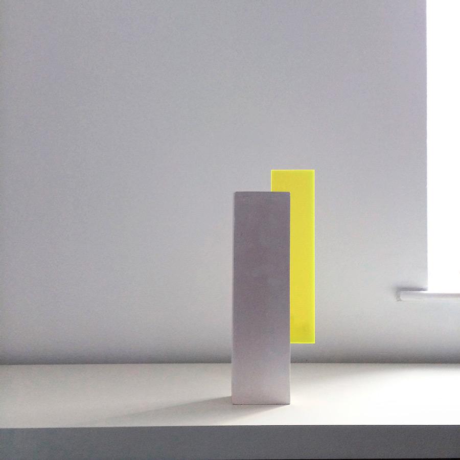 edge-lit lighting sculpture