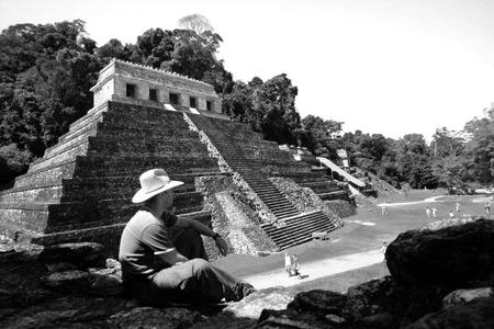 Jon Thomas, Palenque ruins, Mexico