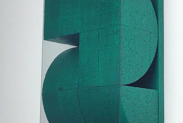 untitled green sculpture