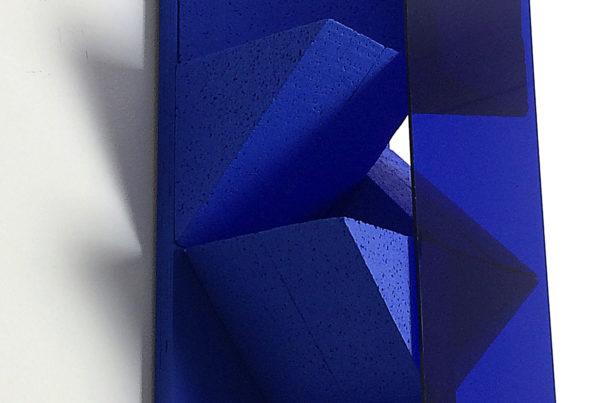 'untitled' blue sculpture